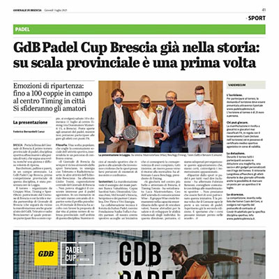 Conto alla rovescia per il GDB Padel Cup a Brescia