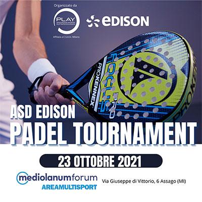 ASD EDISON PADEL TOURNAMENT: 23 Ottobre 2021